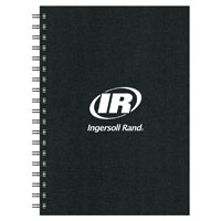 7X10 SPIRAL NOTEBOOK W/ PEN PORT