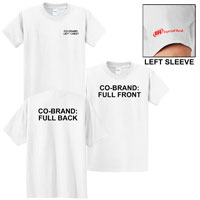 T-SHIRT, BASIC WHITE WITH CO-BRAND