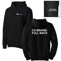SWEATSHIRT, HOODED WITH CO-BRAND