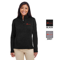 LADIES L/S TRAVERSE HALF ZIP