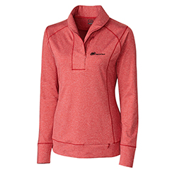 CUTTER & BUCK LADIES' SHORELINE HALF ZIP