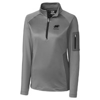 CUTTER & BUCK LADIES' SHAW HYBRID HALF ZIP